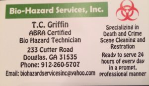Bio Hazard Business card 10272016